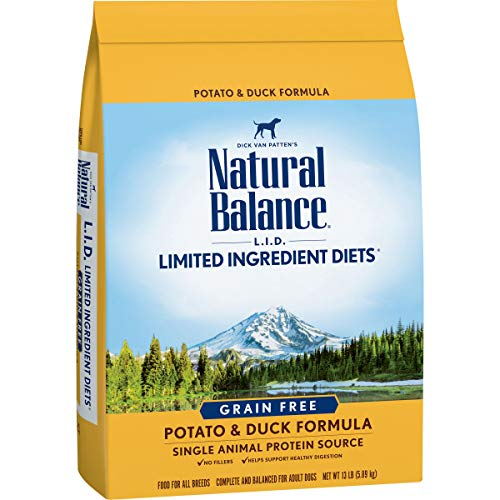 Natural Balance L.I.D. Limited Ingredient Diets Dry Dog Food, Potato & Duck Formula, 13 Pounds, Grain Free (Discontinued by Manufacturer)