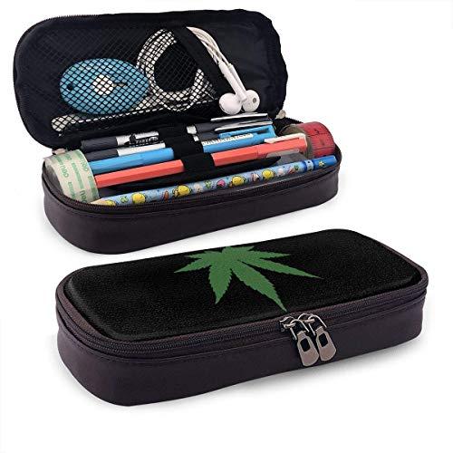 Bleistiftetui Cannabis Leaf Aufbewahrungsbeutel Geldbörse Organizer Kosmetiktasche Reisetaschen mit Reißverschluss Multifunktionale stationäre Beuteletui für die Schule