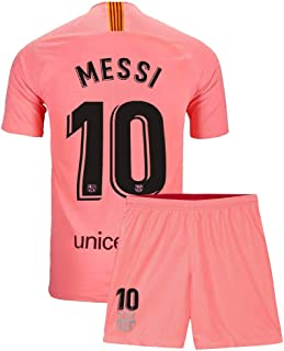 Youth Messi Jersey Barcelona 10 Kids 2018/19 Away Soccer Shorts Lionel