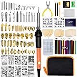 Wood Burning Kit 125PCS, Wood Burning Tool Kit with Soldering Iron Tips for Adults, Wood Burner Pyrography Pen with Adjustable Temperature 392°F to 842°F, DIY Crafts Wood Burner for Embossing Carving