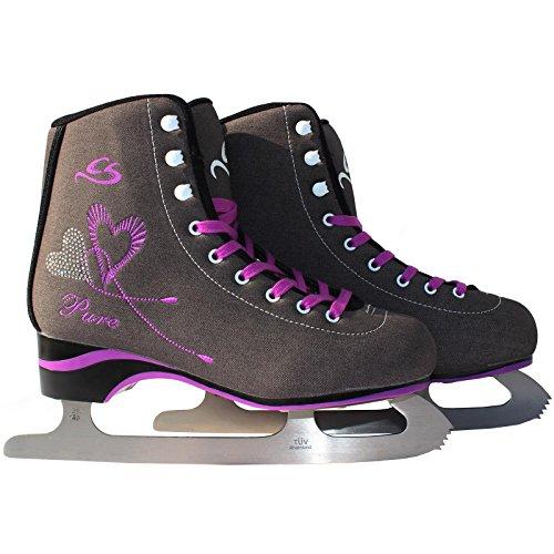Cox Swain Figure Damen + Kinder Eiskunstlauf Schlittschuh -Lexa- alle Größen, Dunkelgrau, 38