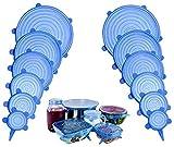 Nifogo Tapas de Silicona elásticas, Tapadera Flexible Extensible, Reutilizable...