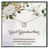Collar de regalo para abuela, gran abuela para ser, generaciones, collar personalizado, joyería personalizada