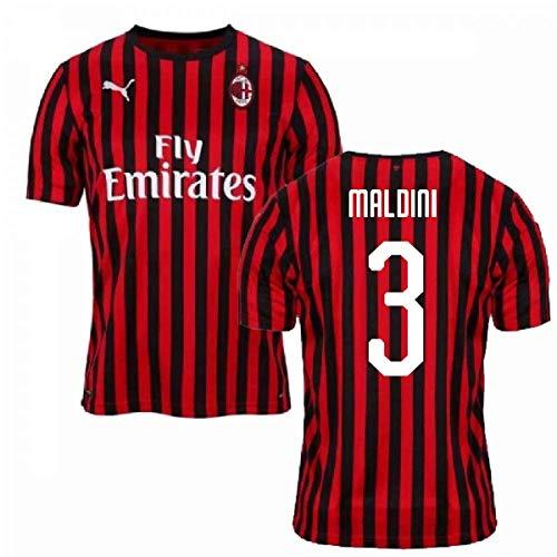 2019-2020 AC Milan Puma Home Football Soccer T-Shirt Trikot (Paolo Maldini 3)