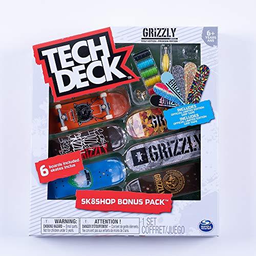 Tech-Deck Sk8shop Bonus Pack 6 Pack 96mm Fingerboards (Grizzly Skate)