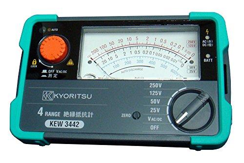共立電気計器 (KYORITSU) キューメグ 4レンジ絶縁抵抗計 (25V/50V/125V/250V) model.3442