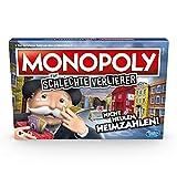 Hasbro Gaming Monopoly fxfcr schlechte Verlierer Brettspiel ab 8 Jahren – Das Spiel, bei dem es Sich auszahlt, zu verlieren