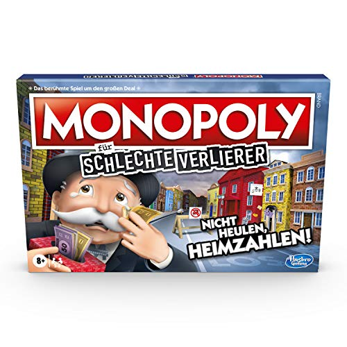Monopoly für schlechte Verlierer Brettspiel ab 8 Jahren – Das Spiel, bei dem es Sich auszahlt, zu verlieren