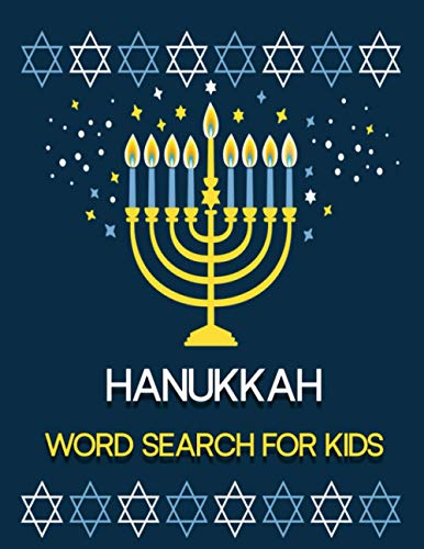 Hanukkah Word Search For Kids: A Fun Challenging & Learning Hanukkah Themed Word Search Activity Book For Kids, Boys, Girls and Teens