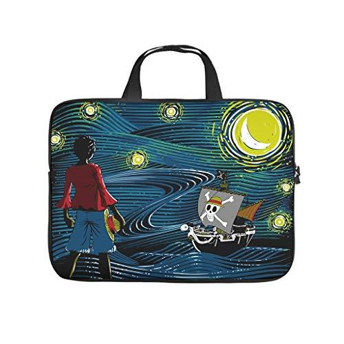 Starry Sea - Funda para portátil con asa portátil, diseño de estrellado, color blanco