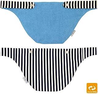 クロス抱っこ紐用 胸カバー 日本製 よだれカバー 抱っこひも セカンド抱っこ紐 コンパクト タオル 綿100% ファムベリー (ブルー)