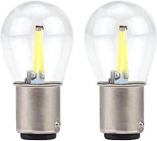 EBTOOLS 12V-28V ampoules stroboscopiques COB LED, 1 paire de 1157 verre stroboscopique COB LED clignotant de voiture ampou...
