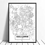 Leinwanddruck,Kuala Lumpur Malaysia Schwarz Weiß