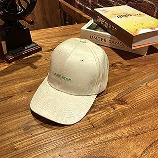 DUOLUO 新しいサテンの手紙は野球帽の女性の夏の野生の日よけの帽子のトレンドの男性の韓国語バージョンの曲線キャップを刺繍