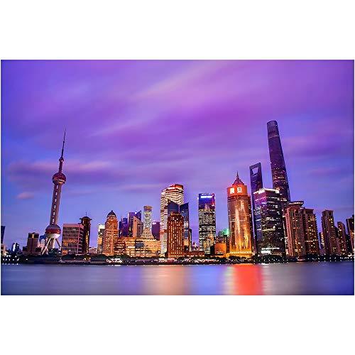 Puzzle Shanghai Oriental Pearl Rompecabezas, Arquitectura Urbana Serie Master Reto Educativo Regalo Juguetes Decorativo 500-6000 Piezas 1007 (Size : 6000 Pieces)
