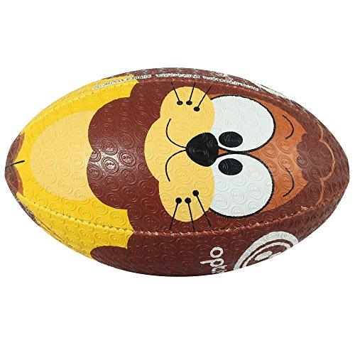 OPTIMUM Unisex-Adult Rugby Ball, Lion, Größe 4, Mehrfarbig, 4