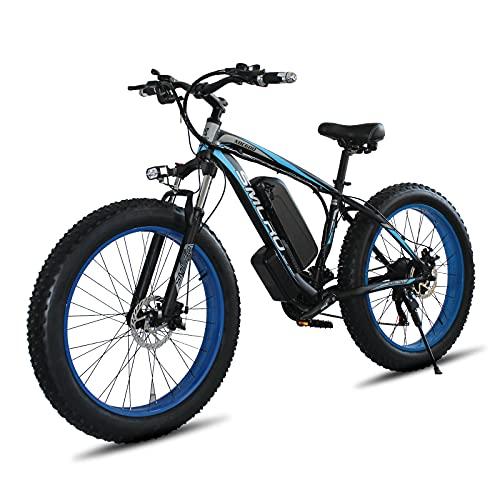 TAOCI Bicicleta Eléctrica para Adultos 26'4.0 Fat Tire E-Bike, Bicicleta de Montaña Eléctrica, Bicicleta Eléctrica Todoterreno