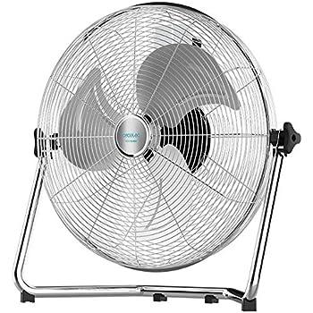 Orbegozo 17230 Ventilador industrial Power Fan con inclinación regulable, 6 velocidades de ventilación, posición modo silencioso, asa de transporte, rejilla de seguridad, 120 W de potencia, No aplica: Amazon.es: Hogar
