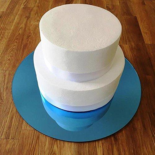 Gâteau Rond Miroir Tableau - Bleu, 11 inches (28cm Diameter)
