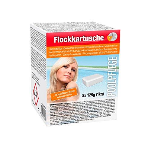 Steinbach Poolchemie Flockkartusche, 8 x 125 g, Hilfsmittel, 0754001TD08