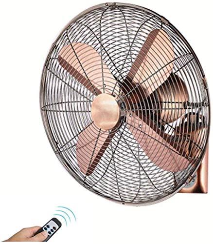Ventilador de pared montado en pared oscilante interior con la sincronización del control remoto, la velocidad de tres velocidades de alta velocidad, el ahorro de energía en silencio y la energía, par
