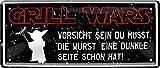 """Blechschilder Lustiger Grill Spruch """"Grill Wars –"""