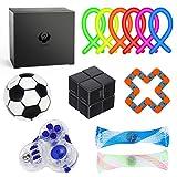 Sensory Fidget Toys Set, Stress Relief Fidget Cube, 12 Pack Toy Box for Adults and Children, Premium Party Favors & Gift Idea