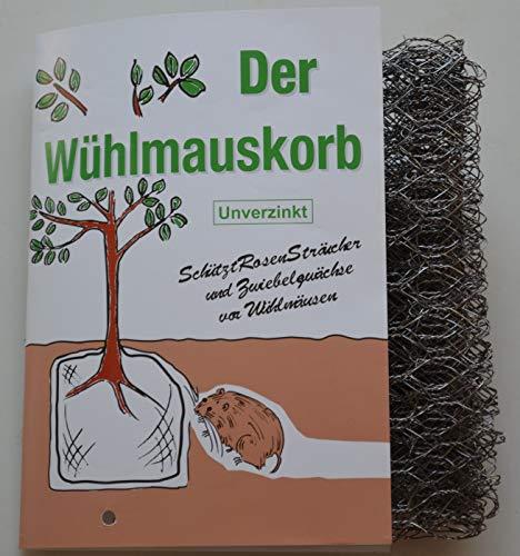 Wuehlmauskorb für Zwiebeln/Rosen/Sträucher, unverzinkt