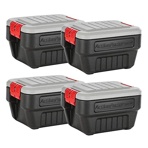 Rubbermaid Action Packer 8-Gallon Storage Tote (4-Pack) -  RMAP080000
