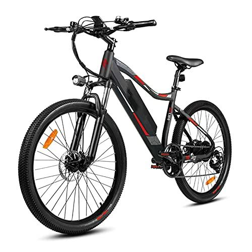 CM67 Elektro Mountainbike Fahrrad 26 Zoll E-MTB Fahrrad Damen Aus Alu E Bike 7 Gang Herren mit LED-Licht E-PAS Elektrofahrrad Ausdauer 65-80km Mühelos zum Pendeln Transportieren Ausflügen
