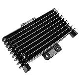 Ölkühler 125 ml Motorölkühler Kühler für 125CC-250CC Motorrad Dirt Bike ATV(schwarz)
