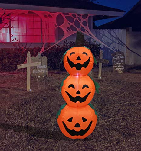 4 Foot Halloween Inflatable 3 Jack-O-Lanterns Yard Art Decoration Now $29.00