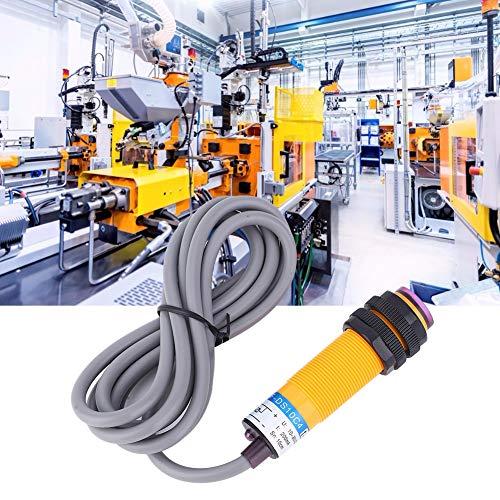 Interruptor fotoeléctrico, sensor de luz de fotocélula adecuado 1.1 metros de plástico 10-30VDC para máquina herramienta E3F-DS10C4 10-30VDC