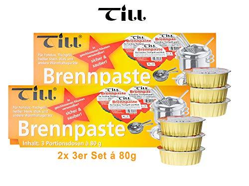 TILL Sicherheits-Brennpaste 2X 3er-Set à 80 g (6 Stück)