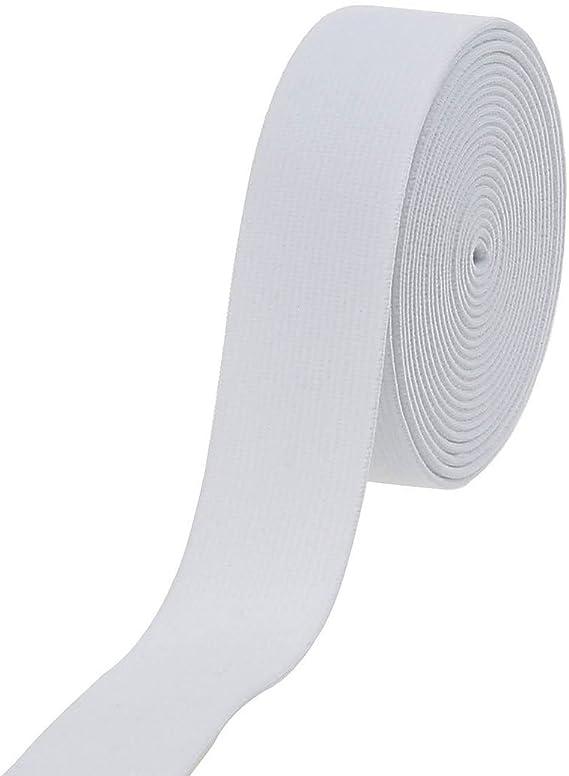 White Plush Elastic Waistband Elastic,Sewing Elastic Elastic Band 114 inch 30mm