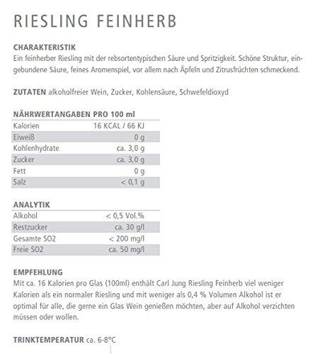 Carl Jung - alkoholfreies Weinpaket (3x0,75l) - Chardonnay, Riesling, Merlot - Weißwein & Rotwein - 3