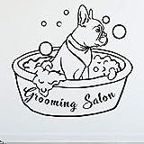WERWN Salón de Belleza Tatuajes de Pared Perro baño Animal Mural Arte Vinilo Pegatinas de Pared...