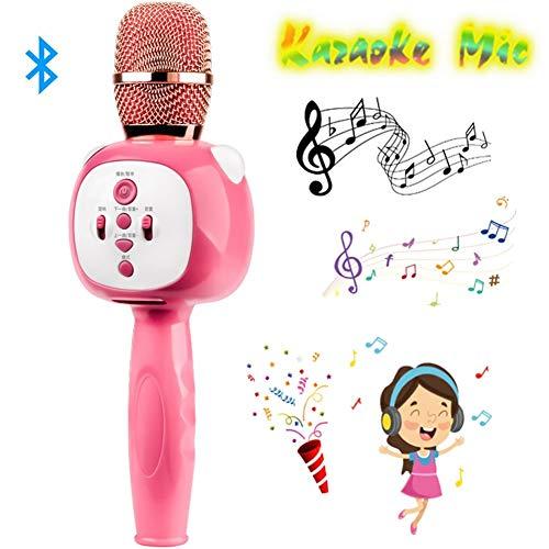 Draadloze microfoon, nationale team K-microfoon, draadloos, karaoke, kind, zingen in een draadloze telefoonmicrofoon, Bluetooth voor thuis, yellow