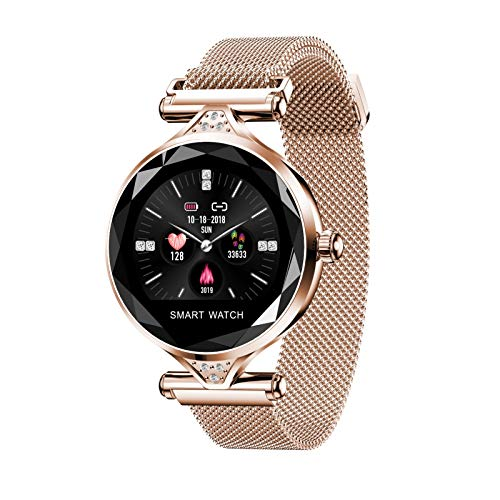 Relógio feminino Fashion Smart com previsão inteligente de ciclo menstrual feminino, detecção de frequência cardíaca, detecção de pressão sanguínea, modo de exercício multifuncional. Suporta conexão Bluetooth de Android e Android