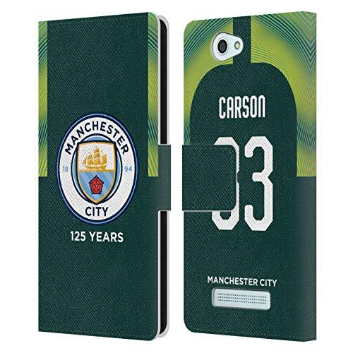 Head Case Designs Ufficiale Manchester City Man City FC Scott Carson 2019/20 Giocatori Home Kit Gruppo 2 Cover in Pelle a Portafoglio Compatibile con Wileyfox Spark/Plus