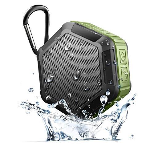 QAZW Altavoz Bluetooth Inalámbrico-Mini Radio estéreo de Manos Libres hasta 12 Horas de Reproducción Radio de Ducha Bluetooth para Playa, Ducha, Viaje y más,Green