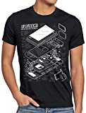 style3 Switch Cianografia T-Shirt da Uomo Console Videogiochi Joy-con, Dimensione:S, Colore:Nero