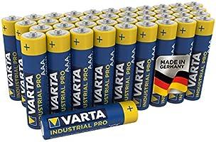 Varta Industrial Batterie AAA Micro Alkaline Batterien LR03 - 40er Pack, Made in Germany, umweltschonende Verpackung