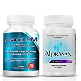 Avinol PM Bundle with Alpranax - Natural Sleep Aid with Melatonin and 5-HTP + Herbal Relaxation and Stress Relief Supplement - Reduce Stress and Get Deep Restful Sleep - (2 Items)