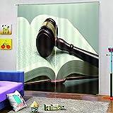 FAIEK Rideau Occultant Salon Rideaux Dressing Rideaux Bureau Isolants Thermique, Rideau Décoratif Moderne 110(W) X215(H) CM 2-Pièces, Marteau Juge de Droit