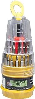 Kit de Chaves 31 Peças em 1 Xckit31 X-Cell, XCELL, XCKIT31, Amarelo/Vermelho