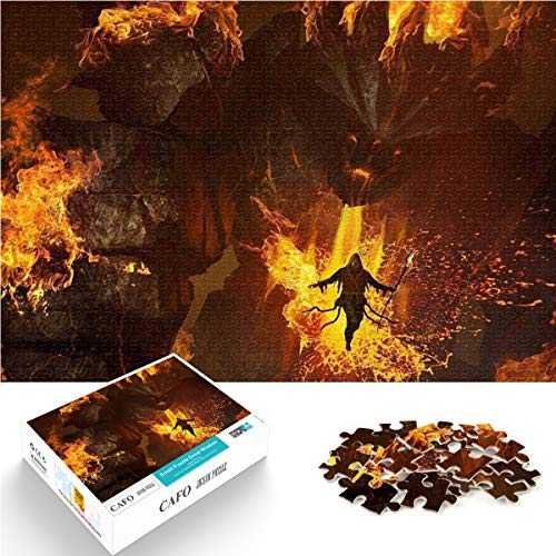 Rompecabezas educativo El señor de los anillos contra el fuego Mini 1000 piezas para el cultivo del pensamiento lógico Rompecabezas de papel para amantes de los juegos