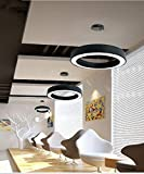 G-D Deckenleuchte Kreative Hohle Runde Büro-Lampe Moderne Zeitgenössische Minimalistische Einfache Restaurant Korridor Front Desk Showroom Raum Hängende Linie Lampe Kronleuchter, 100 cm-weiß