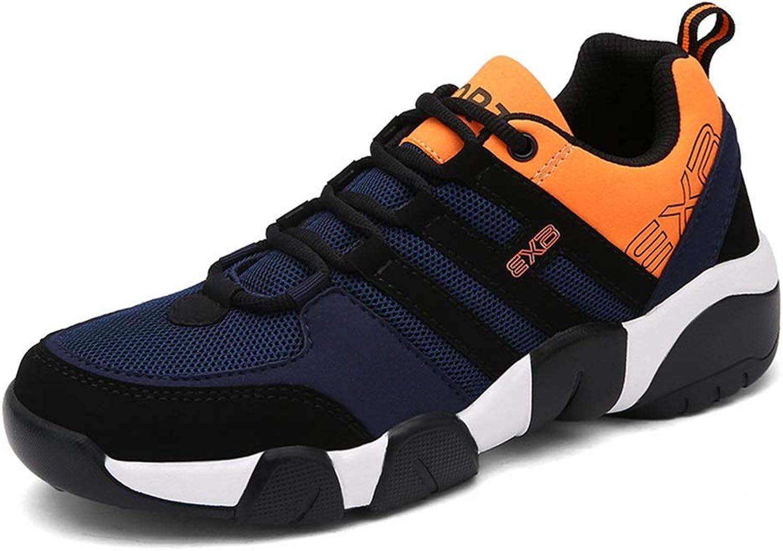 Mens Lace up shoes Soft Sole Non Slip Casual Durable Breathable Comfort shoes (color   orange, Size   AU 8)