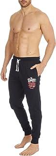 Evotex Trading Mens Jersey Cotton Lounge Pants/Pyjama Bottoms Grey/Navy Size S-XXL